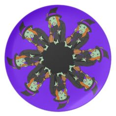 Halloween Witches Party Plate