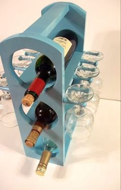 Cute little distressed wine caddy!
