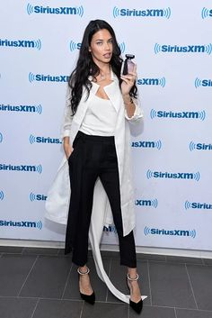 Adriana Lima presents the new Victoria's Secret Intense fragance at SiriusXM, NYC.