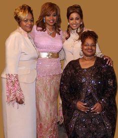 The Clark Sisters Music Icon, Soul Music, Beautiful Black Women, Beautiful People, Church Fashion, Black Artists, Praise And Worship, Gospel Music, Girl Bands