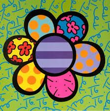 Flower pop-art by Romero Britto Pintura Graffiti, Graffiti Painting, Diy Painting, Graffiti Art, Art Floral, Famous Pop Art, Famous Artists, Paintings Famous, Art Plastique
