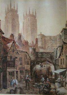 Louise J. Rayner (1832-1924) - York Small Gate