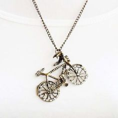 Bicycle Pendant and Chain