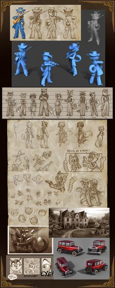 Like the character sheet set-up. // Lackadaisy Farrago by tracyjb.deviantart.com on @deviantART
