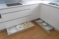 Kickboard Drawers - what a great idea for unused space. You could use it to…