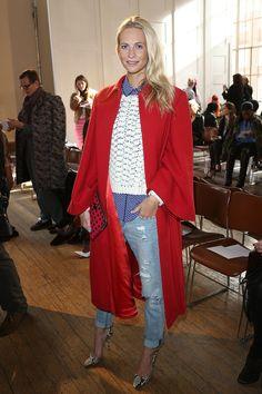Poppy Delevingne Emilia Wickstead Front Row London Fashion Week 2014