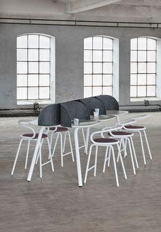 My Place table, design: Anders Berg, Steinar Hindenes, Petter Knudsen   Kaloo bar stool, design: Karim Rashid   Styling: Katrin Bååth   Photo: Sara Landstedt