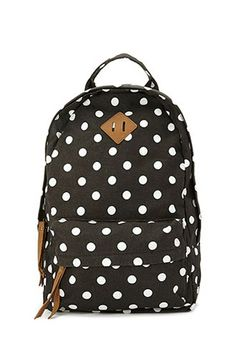 pretty polka dotted backpack for $25