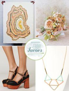 1) great wedding blog  2) color scheme!? Peach/blush pink, olive green, grey, yellow, tan