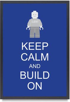 Legoman Lego Minifigure Keep Calm And Build On by Bardaron - kids decor - Etsy