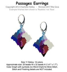 Passages Earrings | Bead-Patterns
