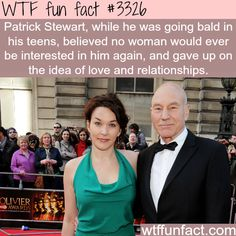 Patrick Stewart and his wife Sunny Ozell -  WTF fun facts