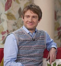 The only man who can pull off a sweatervest. <--- I'd pull off his sweatervest.