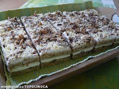 LEHKÉ OŘÍŠKOVÉ ŘEZY SE ŠLEHAČKOU Czech Recipes, Ethnic Recipes, Tiramisu, Cheesecake, Sweets, Bread, Homemade, Baking, Food