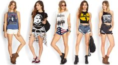 Music graphic tees. Which one is your fave? #GraphicTee #SummerForever #OOTD