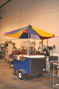 how to build a snow cone cart