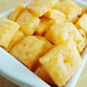 Homemade Cheese Crackers. These are so delicious and cheesy and fluffy but also crispy!