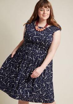 d80fbc5d90dd3 Emily and Fin Day After Day A-Line Dress in Shooting Stars | ModCloth Plus