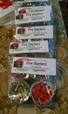 Homemade Fire Starter for Wood Stoves and Fireplaces