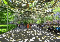 Teresita Fernández suspends a mirrored mirage above Madison Square Park, NYC, 6/15 (LP)