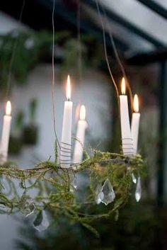christmas chandelier via blomsterverkstad.blogspot.com