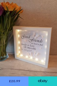 Photo & Picture Frames Home, Furniture & DIY - Diy gifts Best Friend Christmas Gifts, Diy Gifts For Friends, Personalised Gifts For Friends, Friend Birthday Gifts, Birthday Diy, Best Friend Picture Frames, Box Picture Frames, Diy Shadow Box, Shadow Box Frames