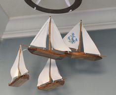 Vivaio nautica Mobile barca a vela di FlutterBunnyBoutique su Etsy