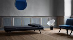 Daybed Spine collection, design by Space Copenhagen por Fredericia Furniture. www.scandinavia-designs.com.br