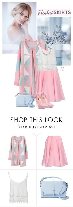 """Bring the Romance"" by tinayar ❤ liked on Polyvore featuring Chicnova Fashion, Rochas, Glamorous, Apt. 9, ShoeDazzle, Humble Chic, Ted Baker and pleatedskirts"