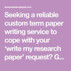 term papers written for you