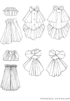 Fashion Illustration Tutorial, Fashion Illustration Dresses, Fashion Flats, Skirt Fashion, Fashion Outfits, Fashion Design Drawings, Fashion Sketches, Flat Drawings, Fashion Silhouette