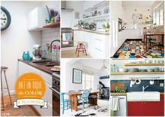 Cocinas con alma. De colores. Diseño de interiores.  www.ochik.com