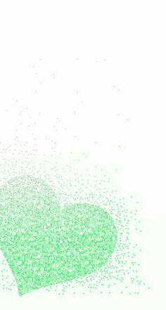 Cute Wallpaper Backgrounds, Pretty Wallpapers, Green Backgrounds, Phone Backgrounds, Glitter Wallpaper Iphone, Heart Wallpaper, Love Wallpaper, Plan Wallpaper, Tumblr Wallpaper
