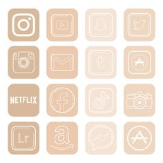 Iphone App Design, Iphone App Layout, Iphone Wallpaper App, Ios Wallpapers, Iphone Icon, Iphone 6, Icones Do Iphone, Minimalist Icons, Iphone Home Screen Layout