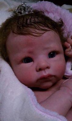 QUEEN'S CRIB ! Gorgeous REBORN BABY DOLL GIRL PRINCESS ANDREA!! Andi awake kit | eBay