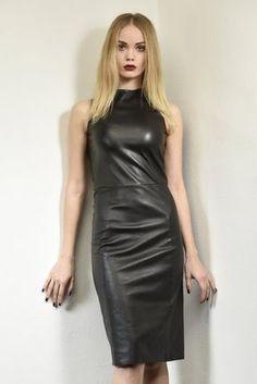 Rubber Dress, Casual Dresses, Fashion Dresses, Leder Outfits, Latex Dress, Leather Dresses, Leather Fashion, Dress Skirt, Sheath Dress