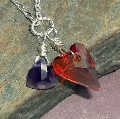 Swarovski crystal with amethyst  http://www.artfire.com/ext/shop/product_view/earthegy/4245645