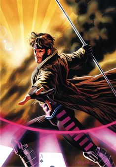 Gambit! I've had a huge crush on him since I was 6 years old. Thank you, Saturday morning cartoons!
