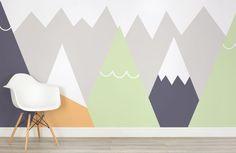 kids-orange-and-lime-mountains-nursery-room