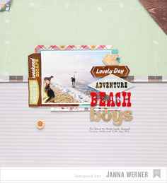 Scrapbooking-Layout, American Crafts by Janna Werner (Holiday, Pets, Dogs)