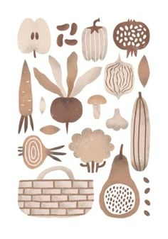 nastia sleptsova: autumn vegetables