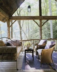 This.... could be my porch on my boat house on a beautiful lake in the adirondacks. yes?