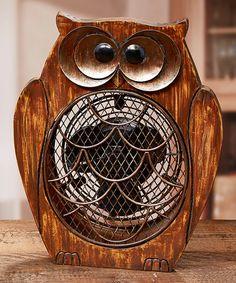 Look what I found on #zulily! Owl Wood Fan #zulilyfinds