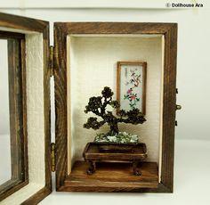 Oriental Bonsai tree (No.2), Asian Traditional exclusive decorations- Miniatures 1/12. $119.00, via Etsy.