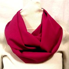 Rose Colored Infinity Scarf. Starting at $8 on Tophatter.com!  #FashionAccessories