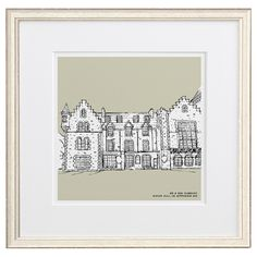 Personalised House Illustration by Letterfest. Made in Devon