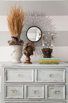 meubles vintage à faire soi-même: commode blanche poncée