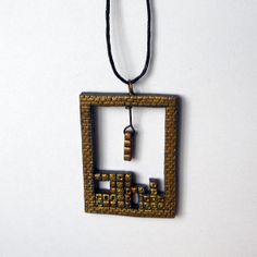 Old School Tetris Necklace    Available for $15 USD atGem's Gems on Etsy.