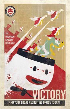 Bowser Propaganda Posters by   Fernando Reza