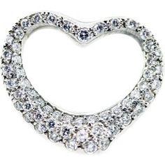 Tiffany & Co. Elsa Peretti Platinum and Pave Diamond Heart Pendant